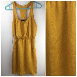 City Triangle S Mustard Yellow T Back Pocket Dress